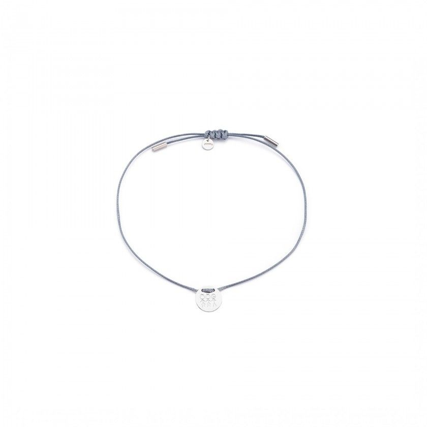 2 girls and 1 boy cord and steel bracelet