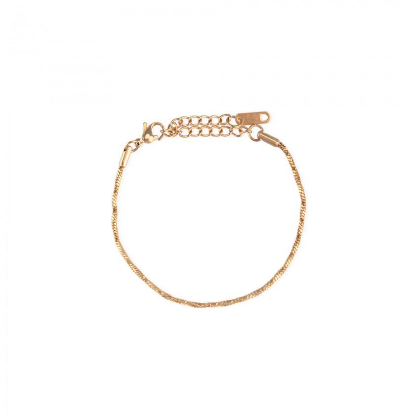 Golden braided stainless steel bracelet