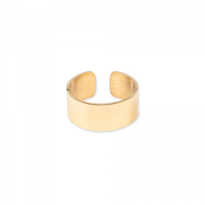 Large gold steel ring