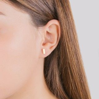 Stainless steel golden stick earrings