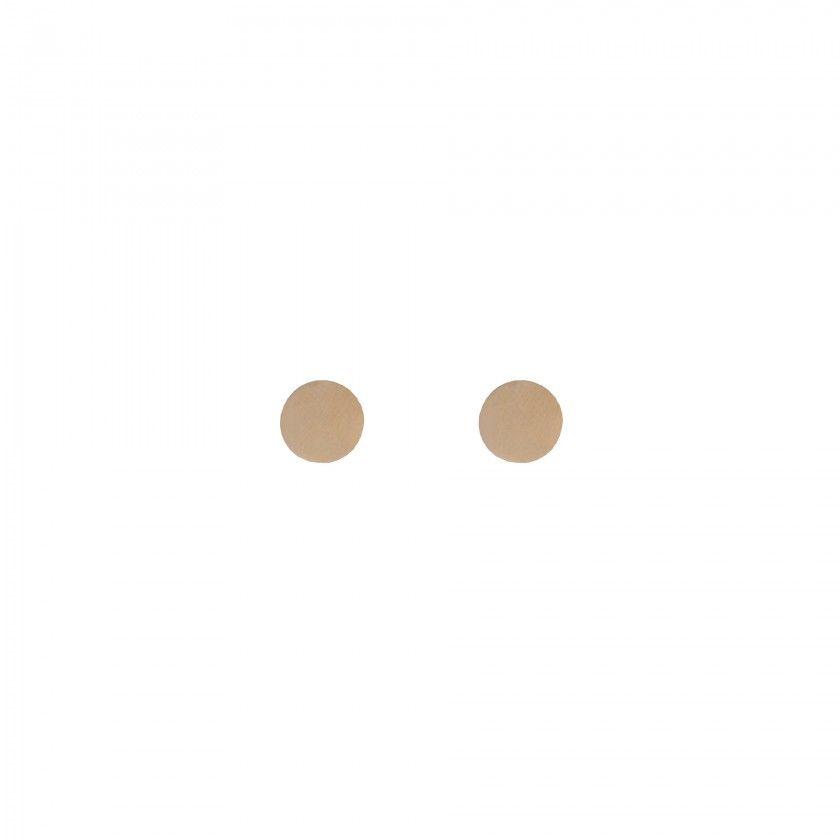 Brincos aço dourados círculo