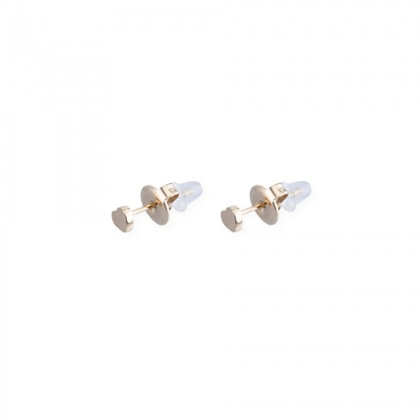 Golden small heart earrings in stainless steel