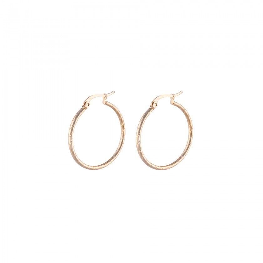 Golden hoop earrings in stainless steel