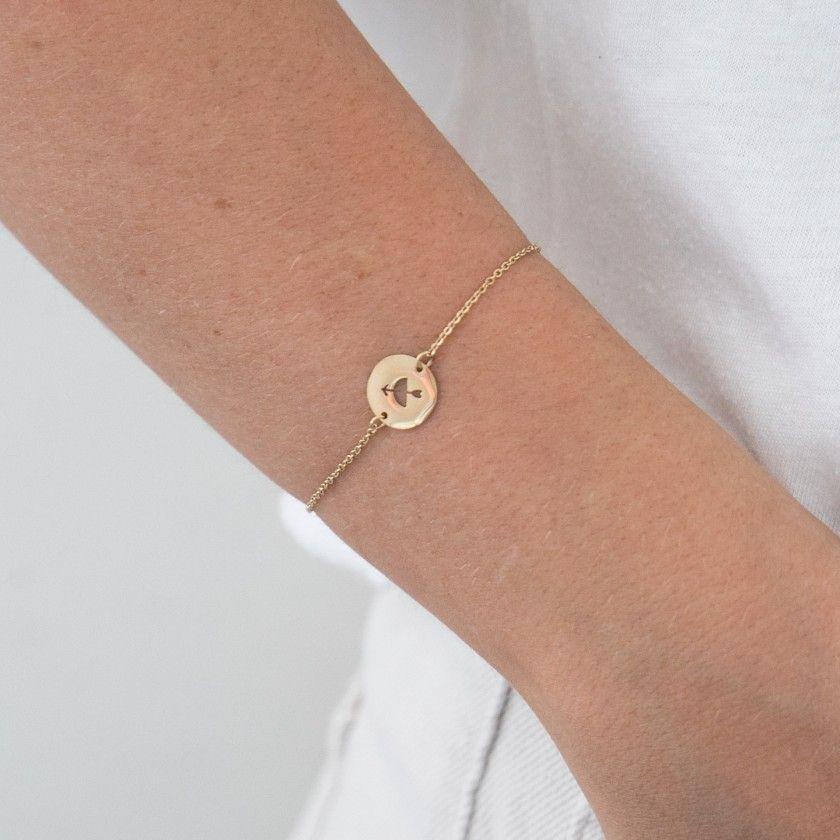 Sagittarius gold steel bracelet