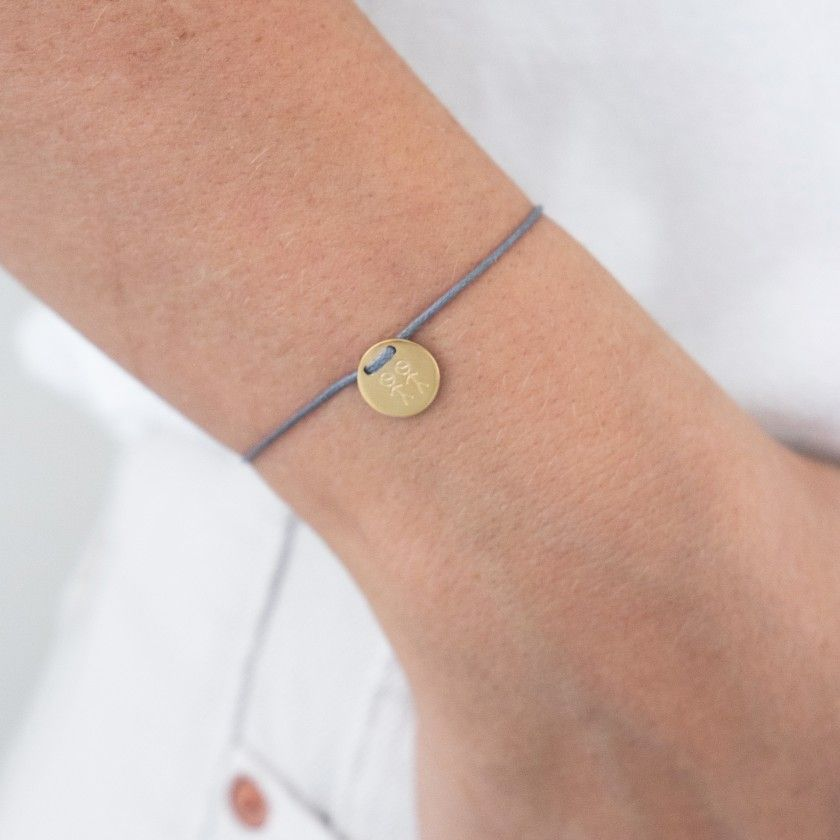 3 boys cord and gold steel bracelet