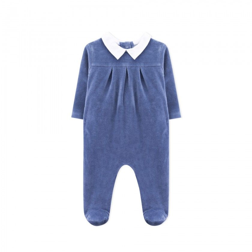 Babygrow recém-nascido veludo Hibiki