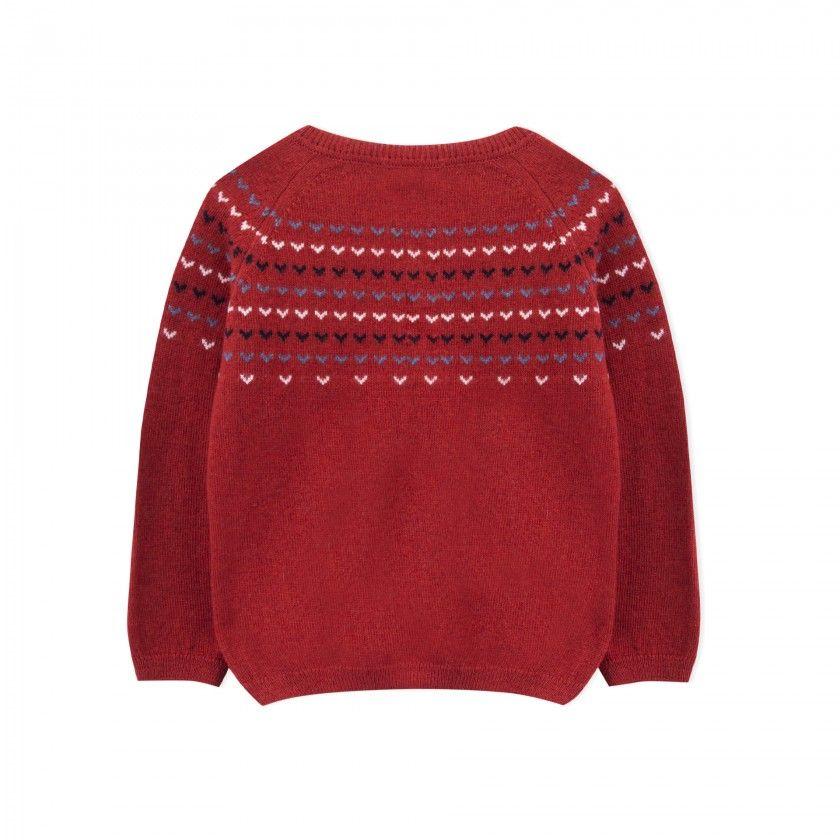 Camisola menina lã Mikan