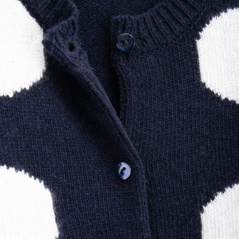 Casaco menina tricot