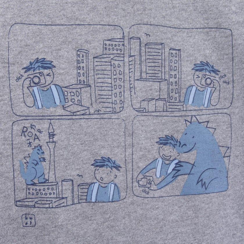 Sweatshirt menino algodão orgânico Manga
