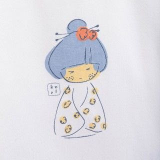 T-shirt manga comprida bebé algodão Makaira