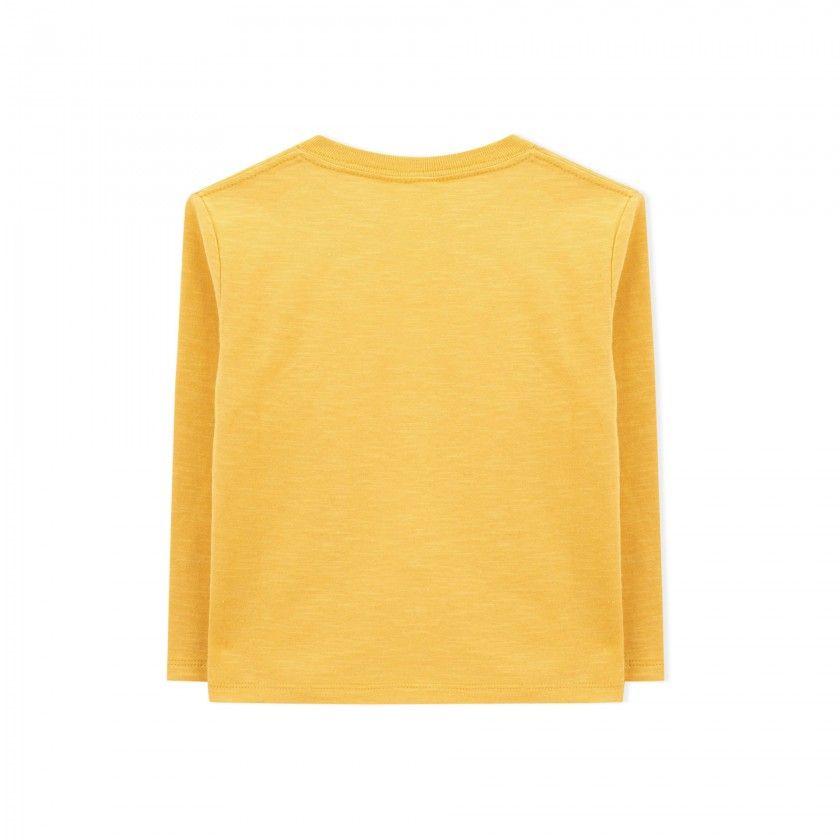 T-shirt manga comprida menino algodão orgânico Ki