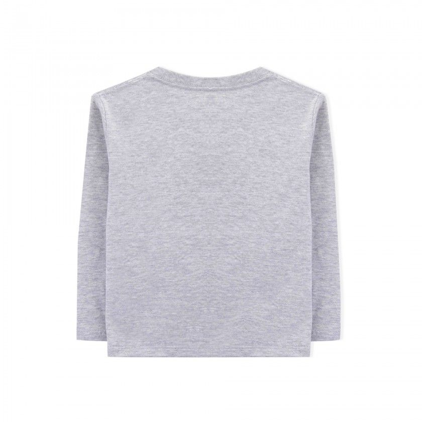 T-shirt manga comprida menino algodão Hinomaru