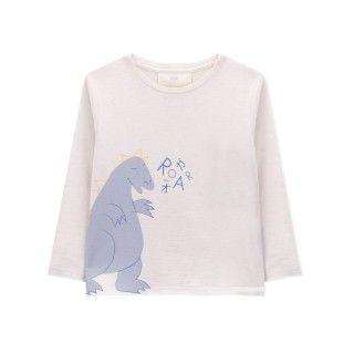 T-shirt manga comprida menino algodão orgânico Gojira