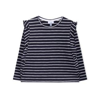 T-shirt manga comprida menina algodão orgânico Sakiko