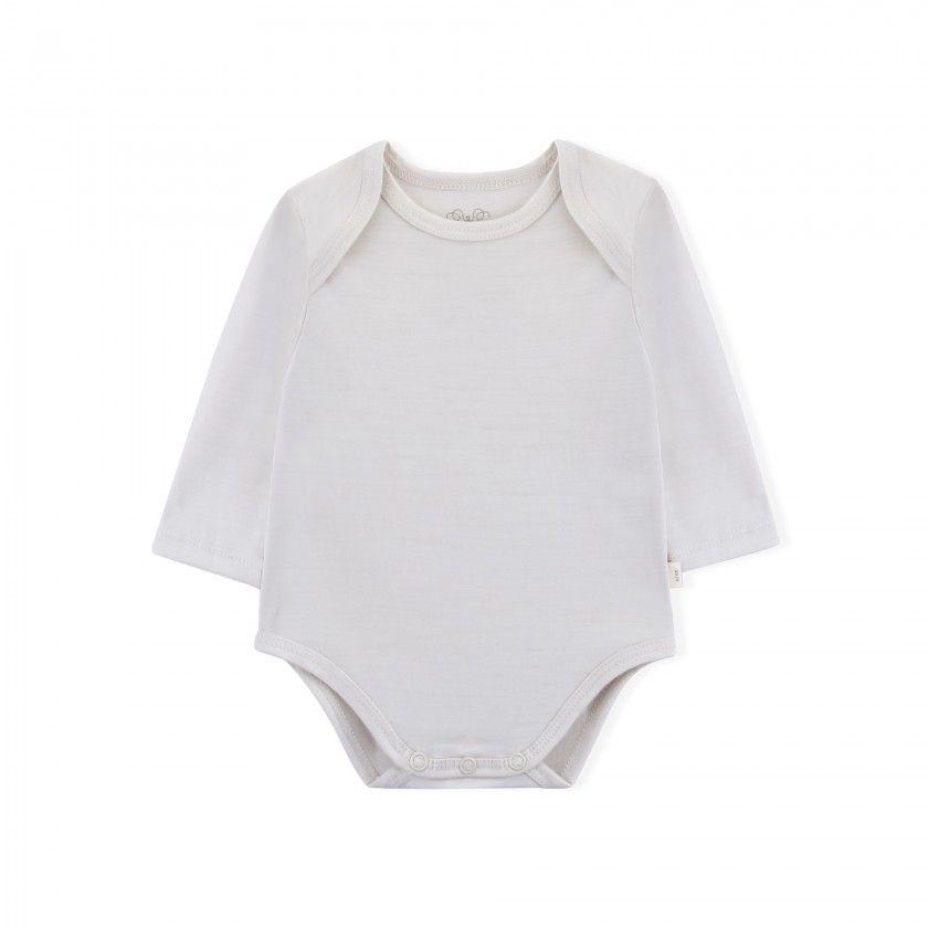 Body manga comprida bebé Lã Merino