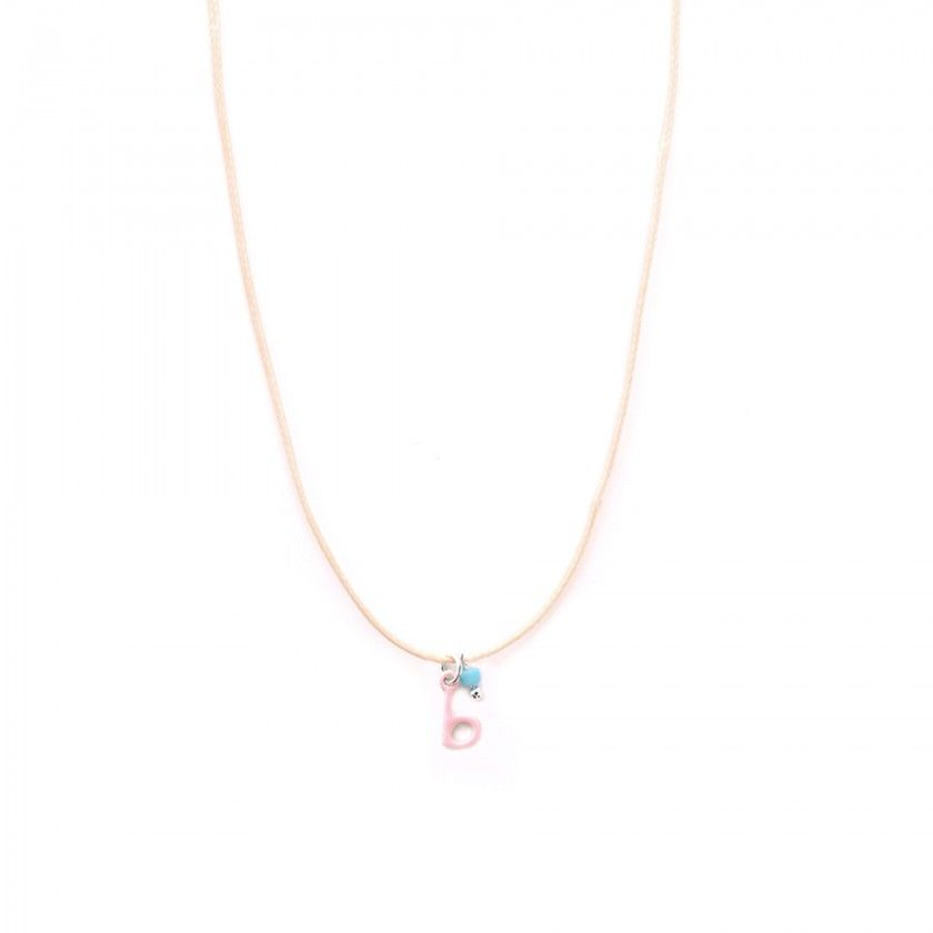 Letter cord necklace - b