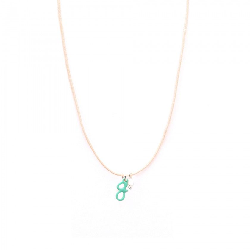 Letter cord necklace - g