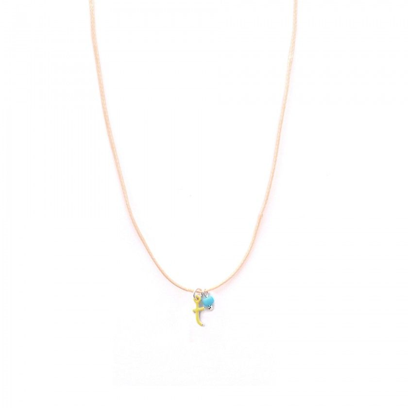 Letter cord necklace - t