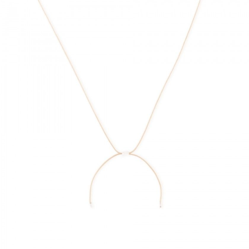 Letter cord necklace - s