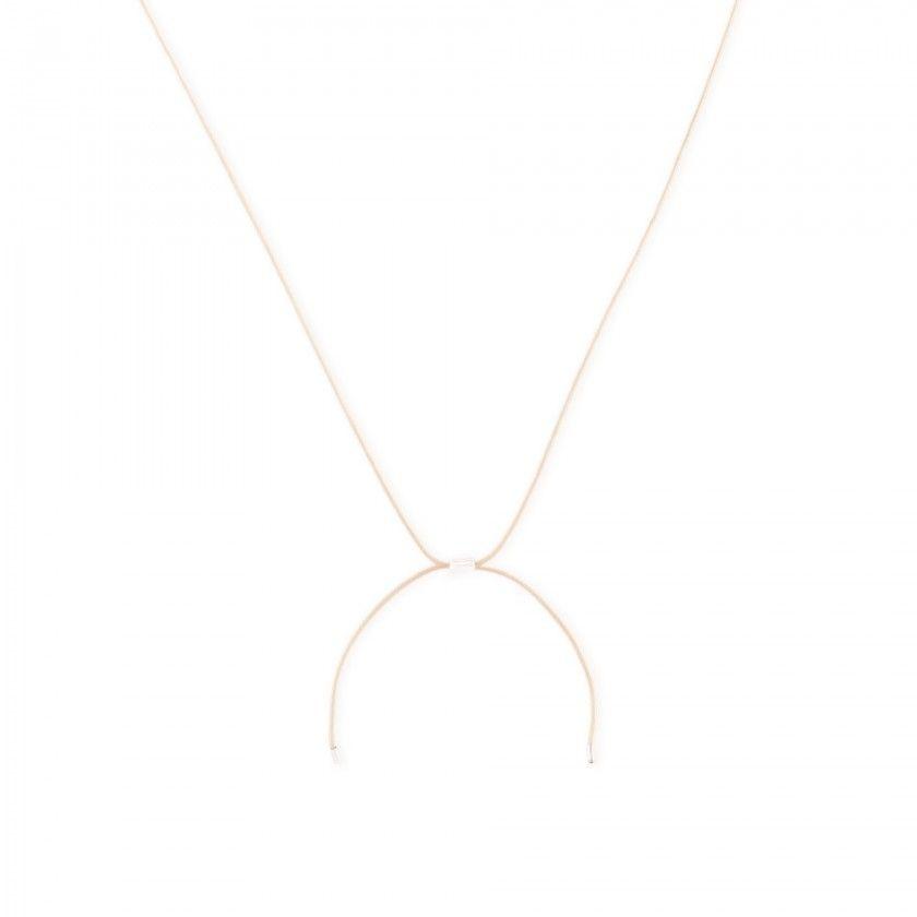 Letter cord necklace - v
