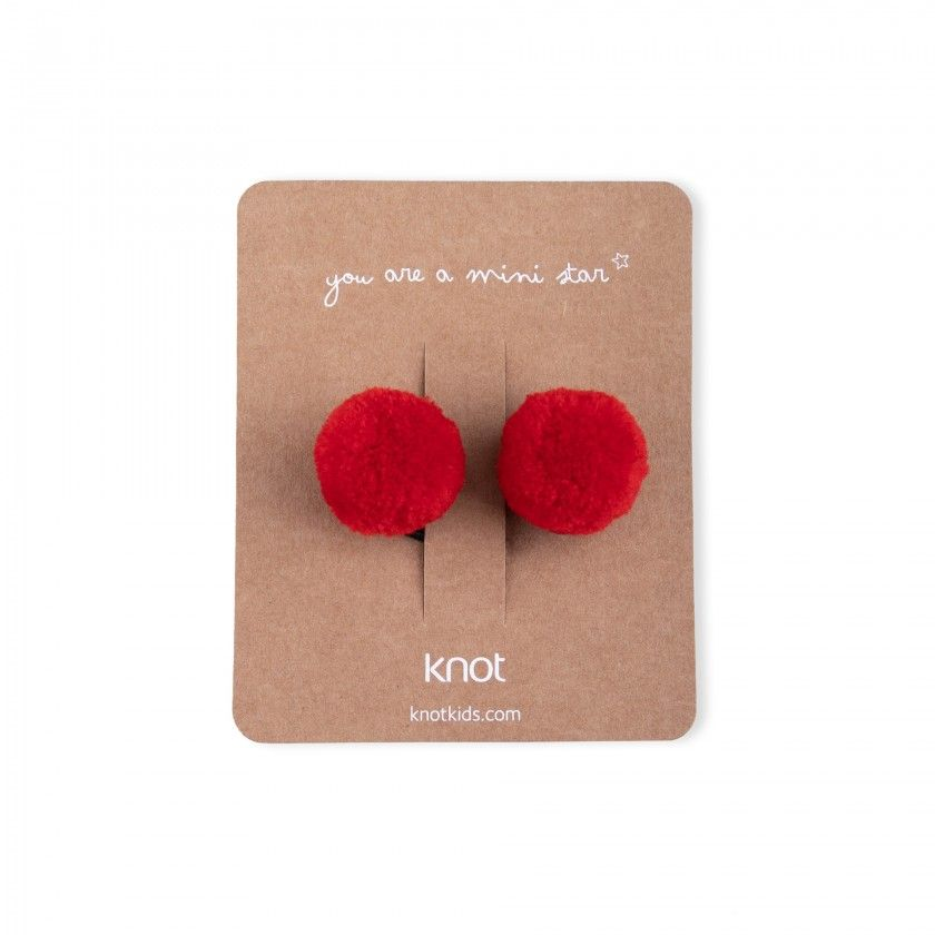 Pack of 2 rubber bands with pompom
