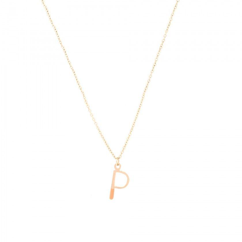 Fio aço dourado letra P