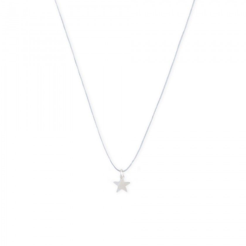 Cord necklace with beads and star pendant