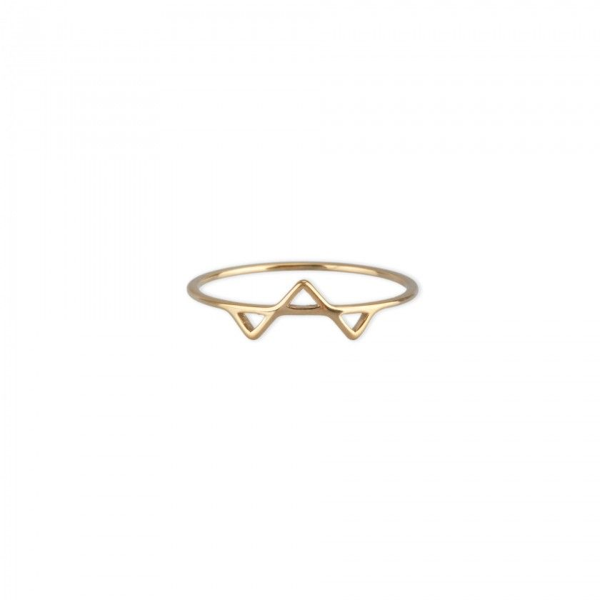 Golden triangle steel ring