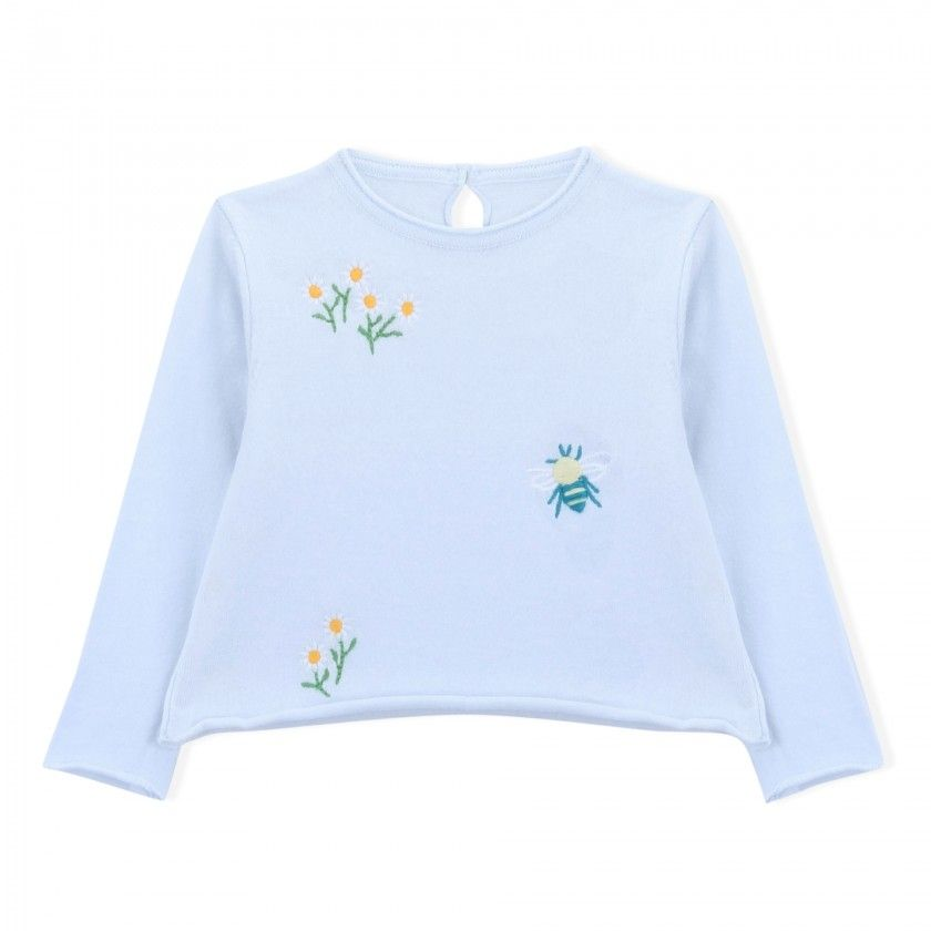 Daisy and bee sweater