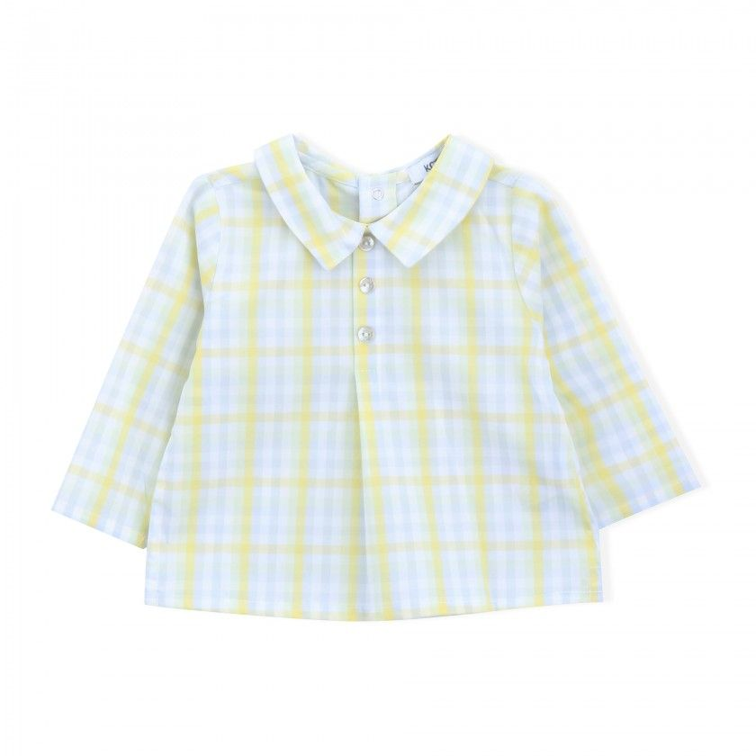 Seaweed check tunic