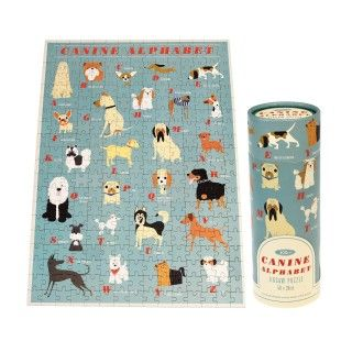 Canine Alphabet Puzzle In A Tube