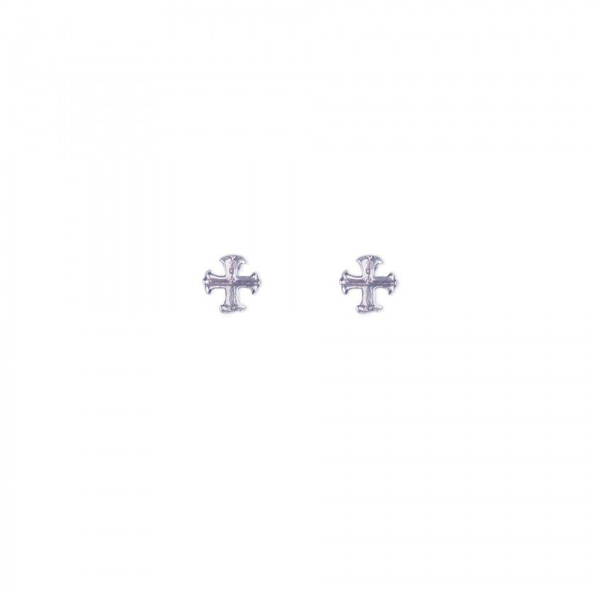 Brincos cruz preta
