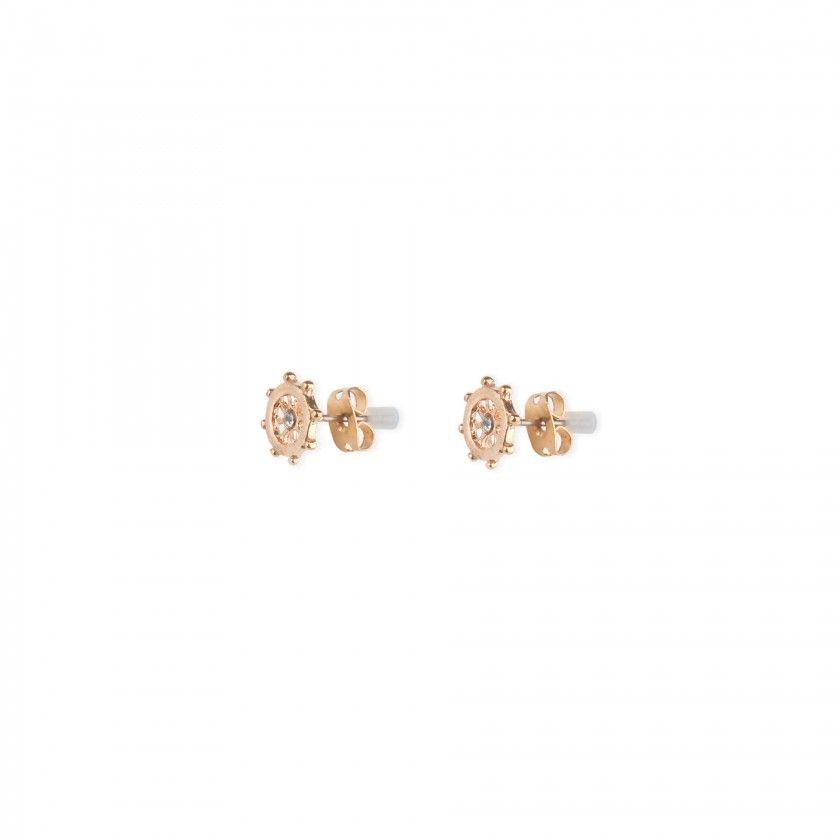 Golden rudder brass earrings