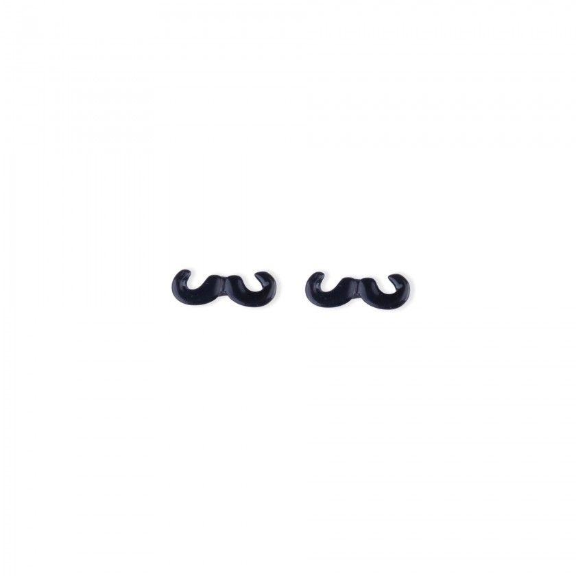 Brincos bigode preto