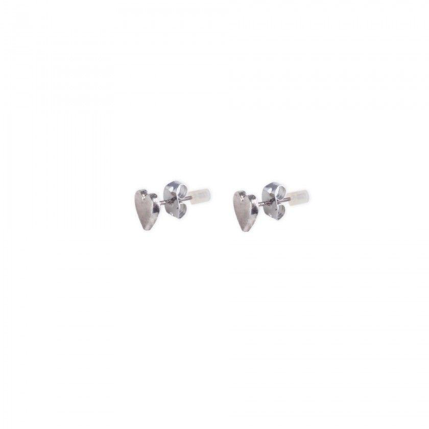 Heart brass earrings
