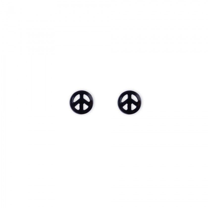 Brincos símbolo paz preto