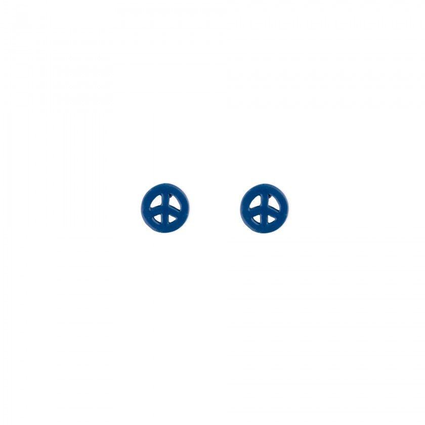 Brincos símbolo paz azuis