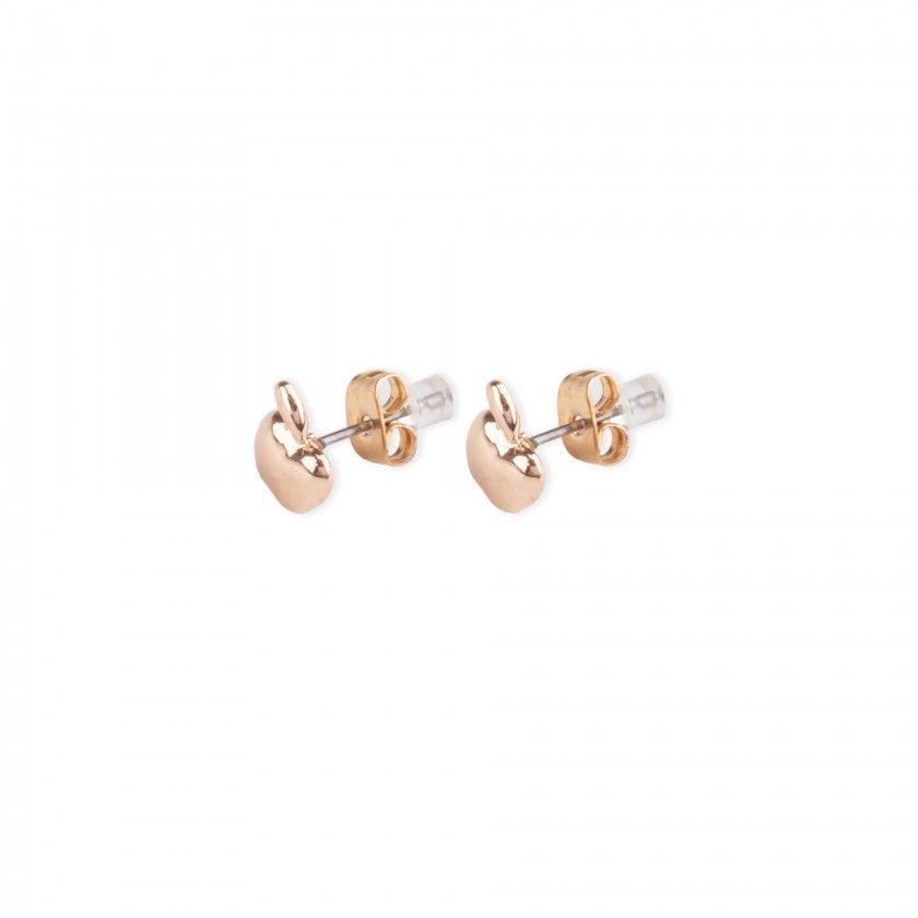 Brass apple earrings