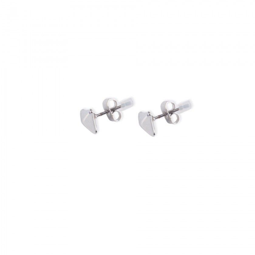Brass triangle peak earrings
