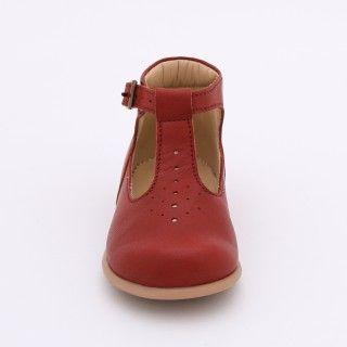 Sapatos pré-andante em pele