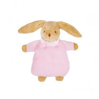 Bunny plush rattle ring pink