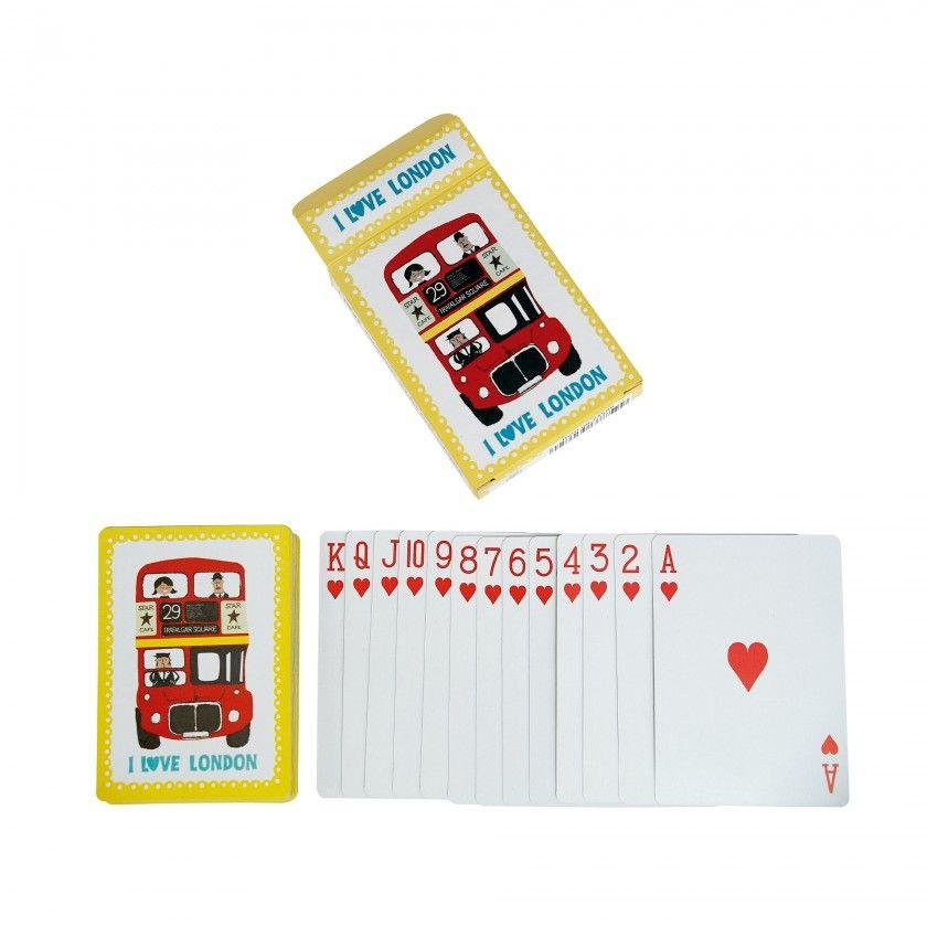 """Jogo de cartas """"I love London"""""""