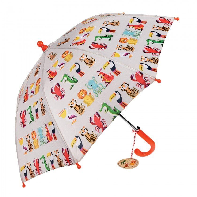 Colorful creatures childrens umbrella