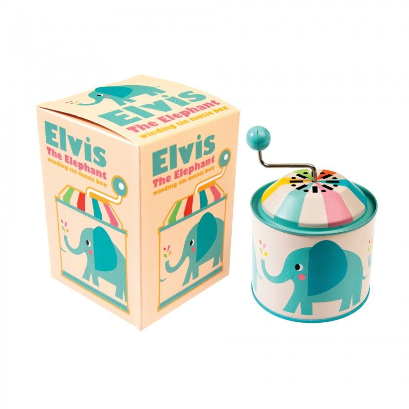 Caixa de música Elvis, o Elefante