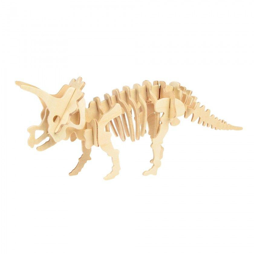 Puzzle madeira 3D Tricerátopo