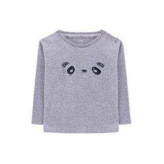 T-shirt manga comprida bebé algodão Kura