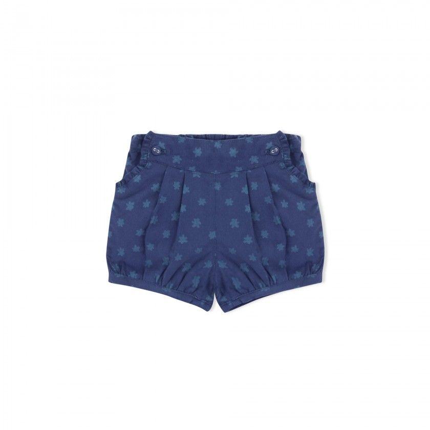 Baby shorts corduroy Flowers