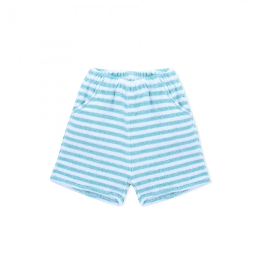 Shorts baby cotton Aqua Stripes