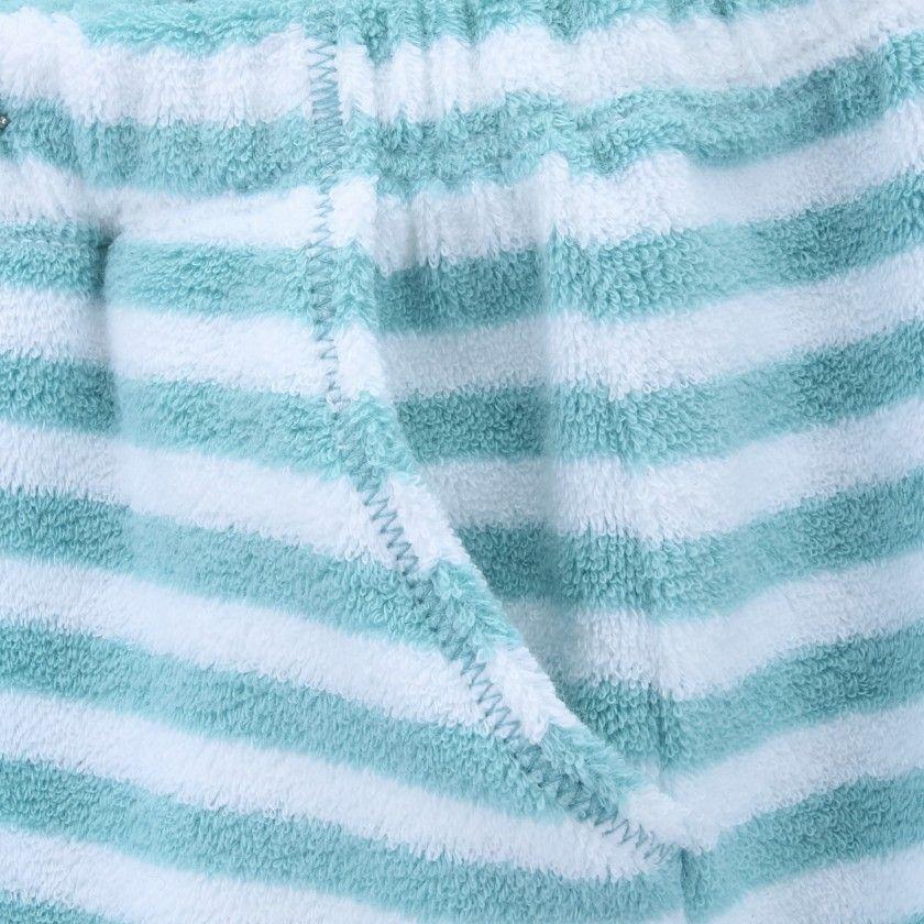 Calções bebé algodão Aqua Stripes