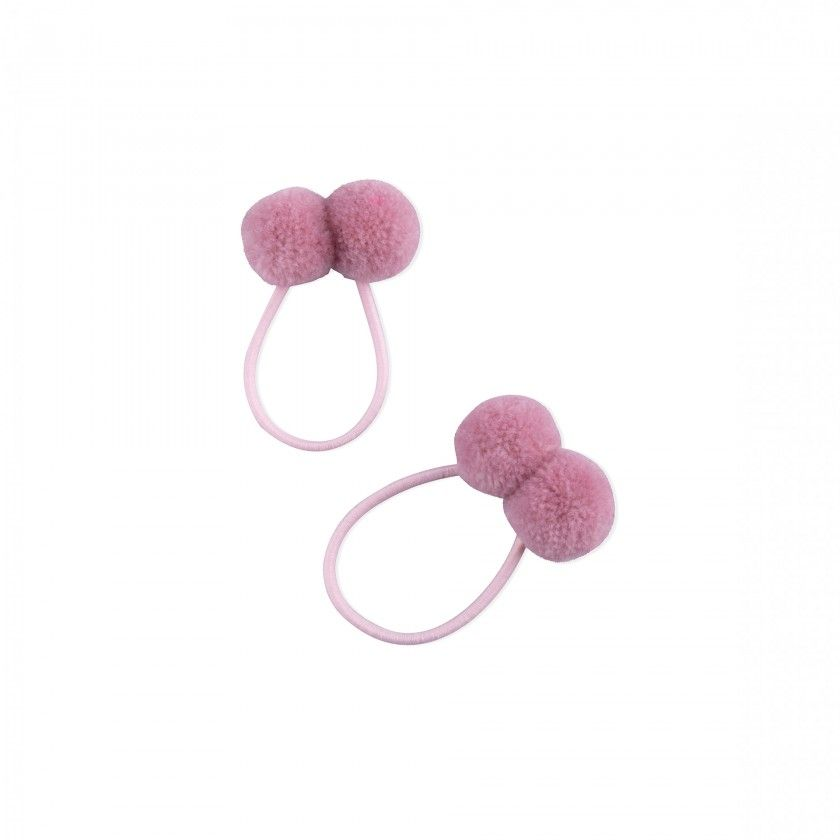Set of two bands with two pompoms